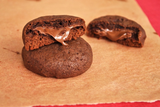 Nutella Stuffed Chocolate Cookies | Bronie Box8