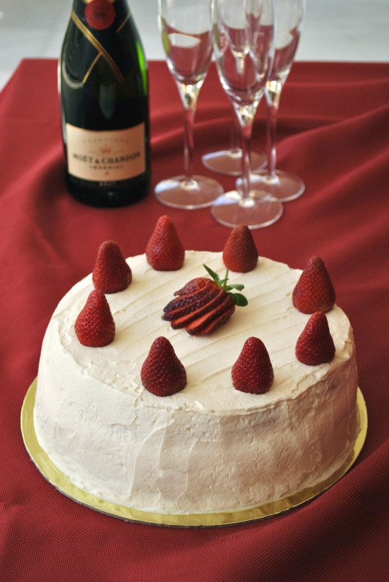 strawberry cream cake 3