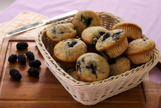 blackberry muffins 5